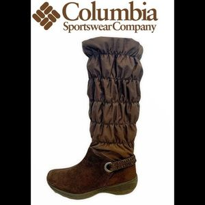 Columbia brown snow boots size 8